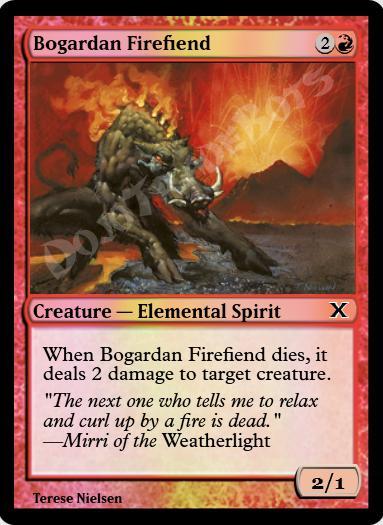 Bogardan Firefiend FOIL