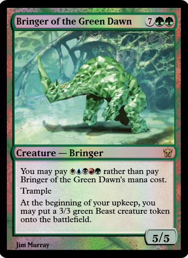 Bringer of the Green Dawn FOIL