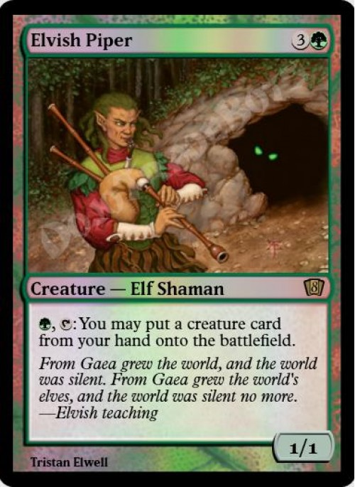 Foil Elvish Piper