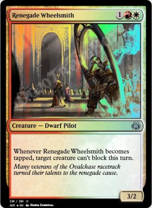 - Aether Revolt 134//184 Foil Renegade Wheelsmith Uncommon