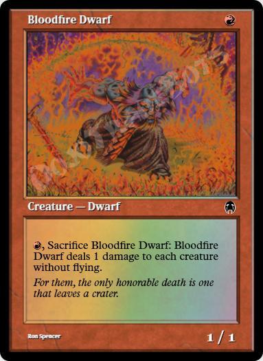 Bloodfire Dwarf FOIL