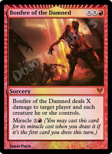Bonfire of the Damned FOIL
