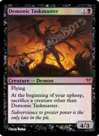 Demonic Taskmaster FOIL