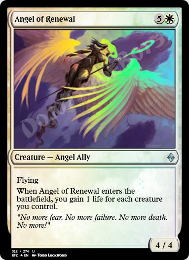 Angel of Renewal FOIL