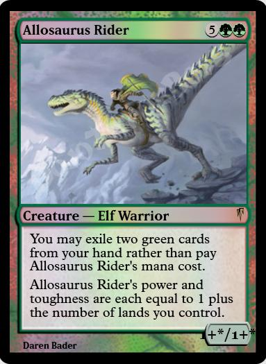 Allosaurus Rider FOIL