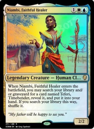Niambi, Faithful Healer FOIL