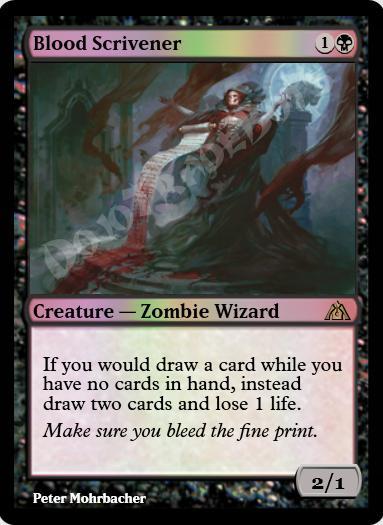 Blood Scrivener FOIL