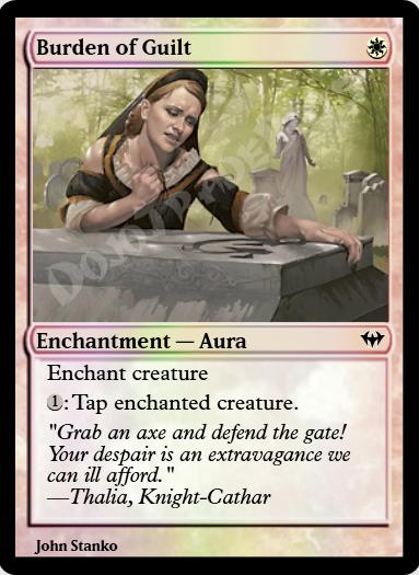 Burden of Guilt FOIL