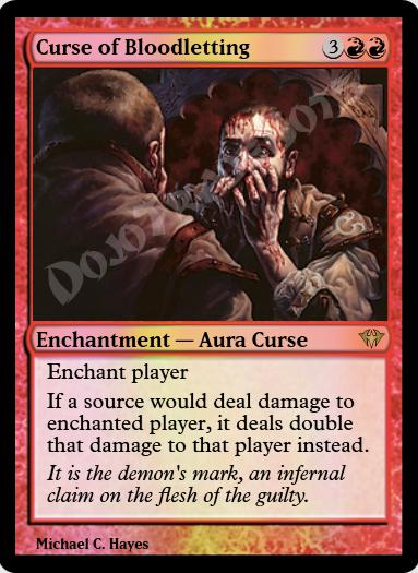 Curse of Bloodletting FOIL