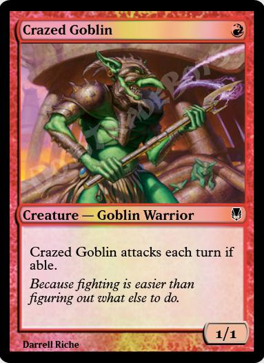 Crazed Goblin FOIL