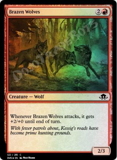 Brazen Wolves FOIL
