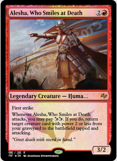 Alesha, Who Smiles at Death FOIL