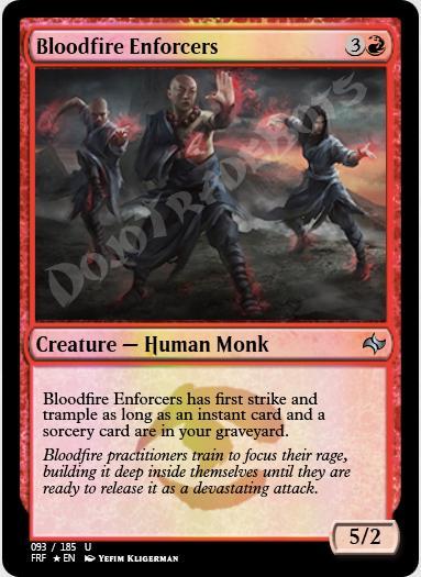Bloodfire Enforcers FOIL