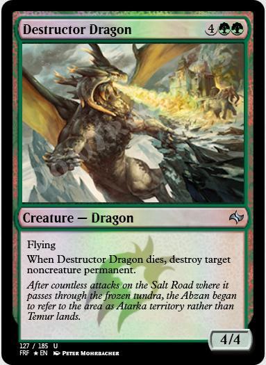 Destructor Dragon FOIL