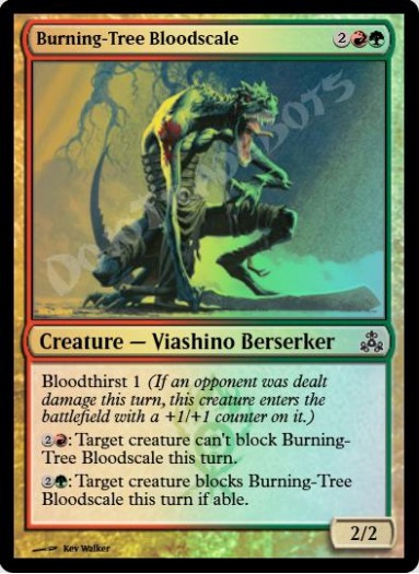 Burning-Tree Bloodscale FOIL