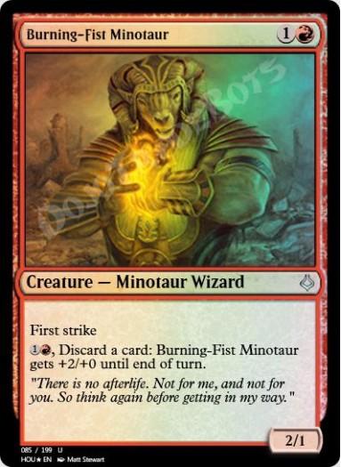 Burning-Fist Minotaur FOIL