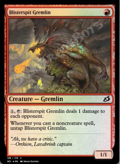 Blisterspit Gremlin FOIL