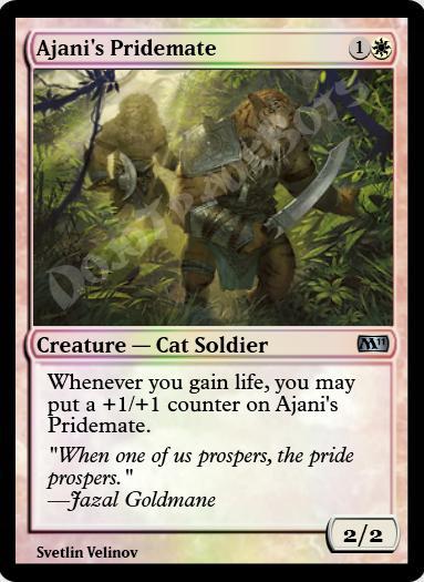 Ajani's Pridemate FOIL