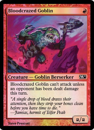 Bloodcrazed Goblin FOIL