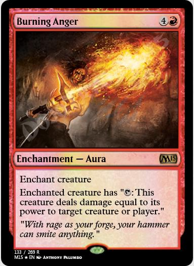 Burning Anger FOIL