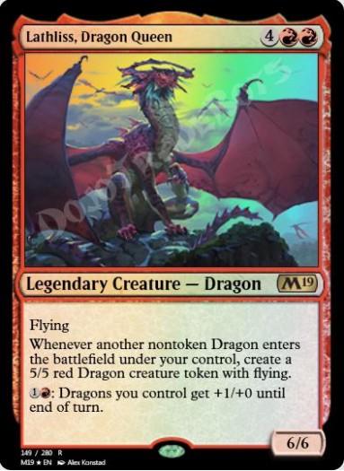 Lathliss, Dragon Queen FOIL