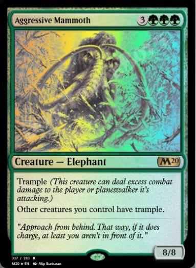 Aggressive Mammoth FOIL