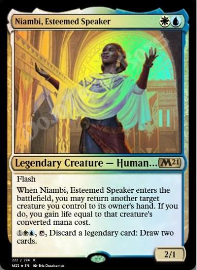 Niambi, Esteemed Speaker FOIL