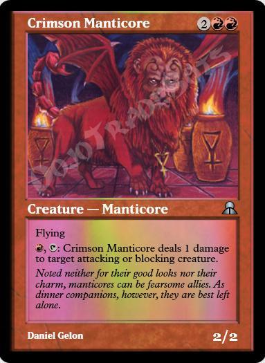 Crimson Manticore FOIL