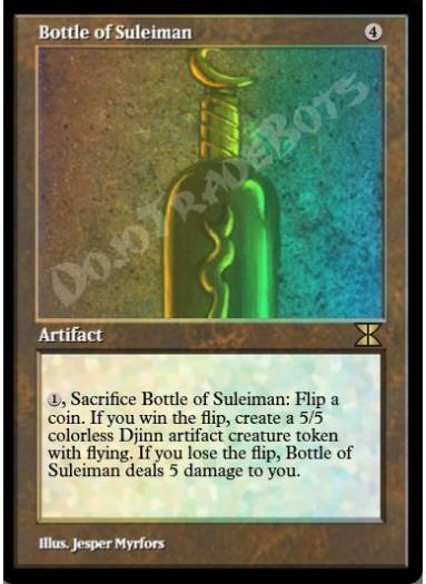 Bottle of Suleiman FOIL
