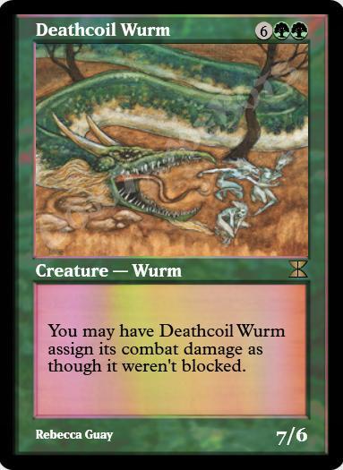 Deathcoil Wurm FOIL