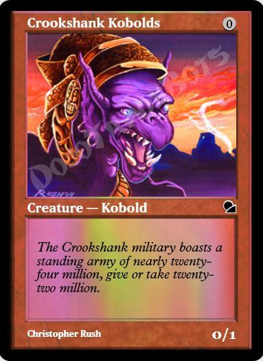 Crookshank Kobolds FOIL