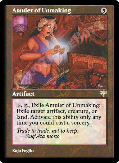 Amulet of Unmaking FOIL
