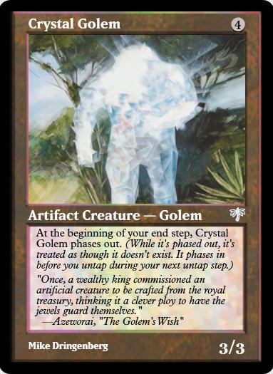 Crystal Golem FOIL