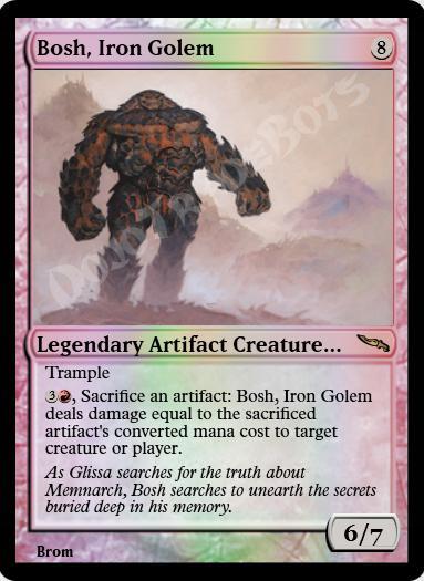 Bosh, Iron Golem FOIL