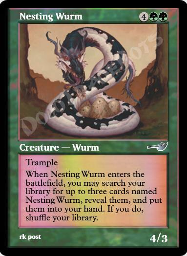 Nesting Wurm FOIL