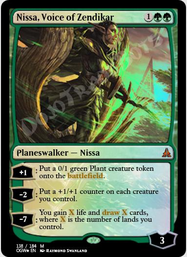 Nissa, Voice of Zendikar FOIL