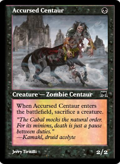 Accursed Centaur FOIL