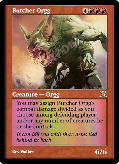 Butcher Orgg FOIL