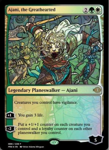 Ajani, the Greathearted (Stained Glass) FOIL