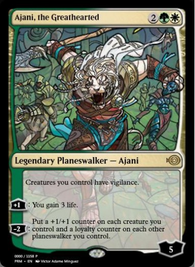 Ajani, the Greathearted (Stained Glass)