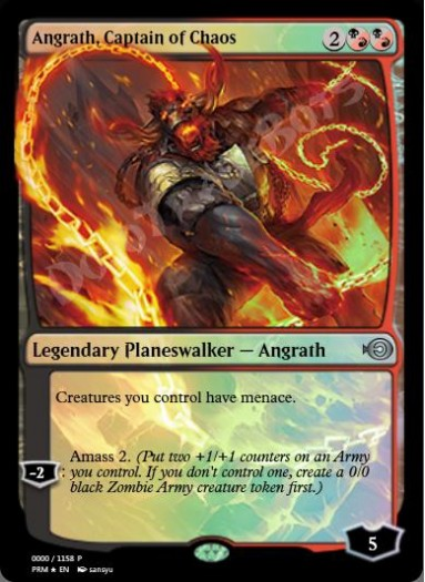 Angrath, Captain of Chaos (Japanese) FOIL