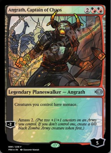 Angrath, Captain of Chaos (Stained Glass) FOIL