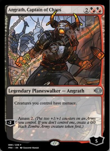 Angrath, Captain of Chaos (Stained Glass)
