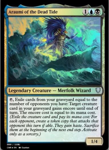 Araumi of the Dead Tide FOIL