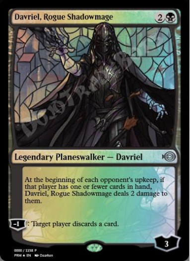 Davriel, Rogue Shadowmage (Stained Glass) FOIL