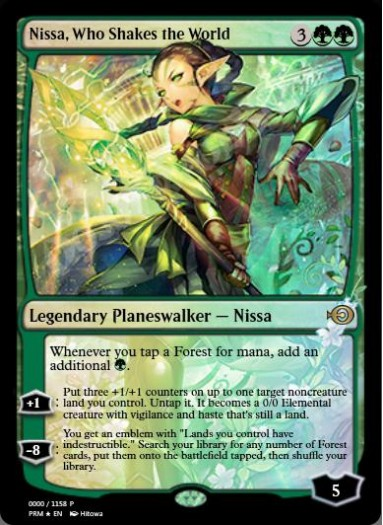 Nissa, Who Shakes the World (Japanese) FOIL