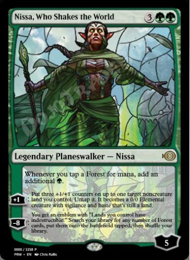 Nissa, Who Shakes the World (Stained Glass)