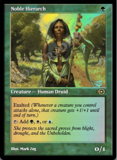 Noble Hierarch (Original Art) FOIL