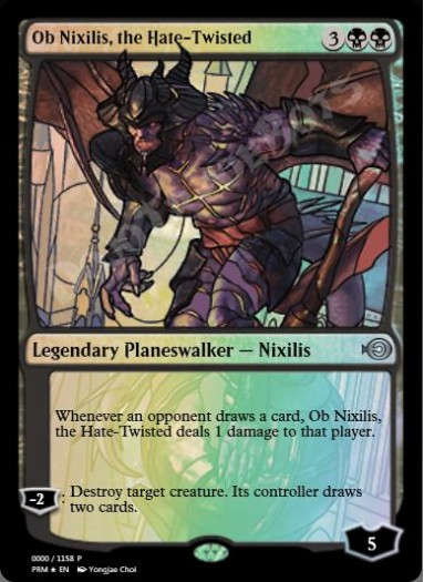 Ob Nixilis, the Hate-Twisted (Stained Glass) FOIL