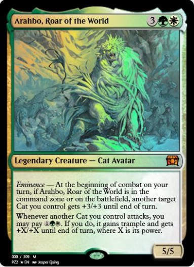 Arahbo, Roar of the World FOIL